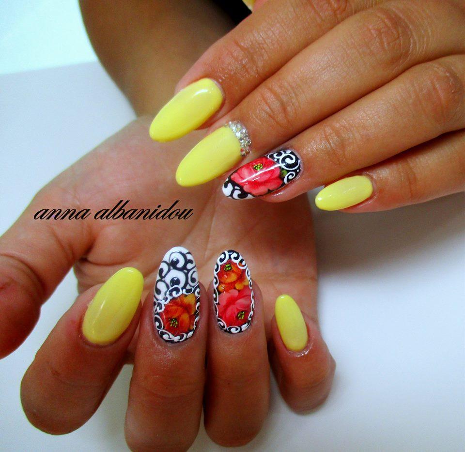 Anna Albanidou Nail Art Schoolseminarsgelacrylicnail Artforms